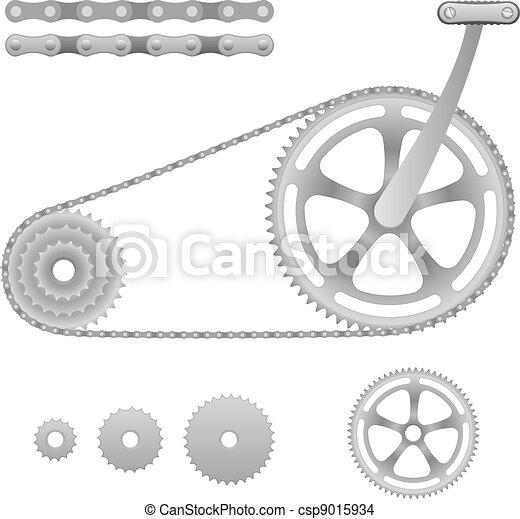 vetorial, engrenagem bicicleta - csp9015934