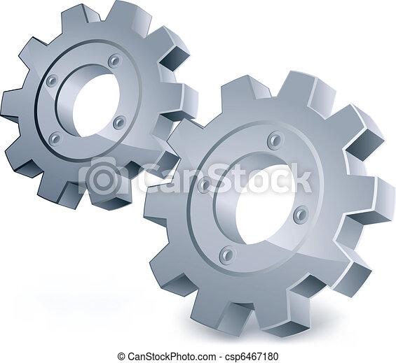 vetorial, engrenagens - csp6467180