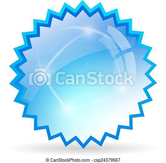 vetorial, estrela, ícone - csp24379567