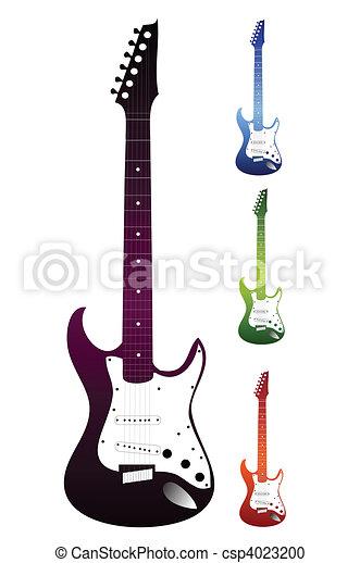 vetorial, experiência., branca, jogo, violões - csp4023200