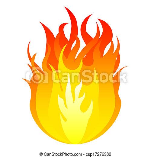 vetorial, fogo - csp17276382