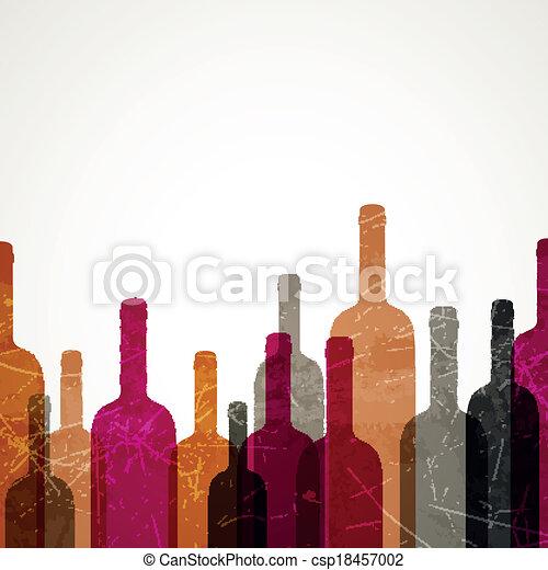 vetorial, fundo, vinho - csp18457002