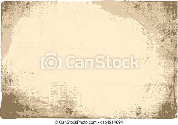 vetorial, grunge, fundo - csp4914694