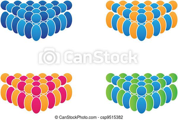 vetorial, grupo, pessoas - csp9515382