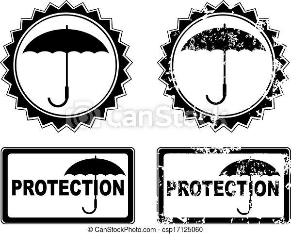 vetorial, guarda-chuva, proteção - csp17125060