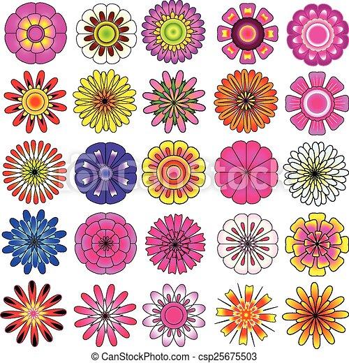 vetorial jogo flor coloridos bonito flor coloridos jogo