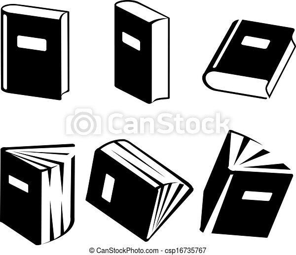 vetorial, jogo, livro, ícones - csp16735767