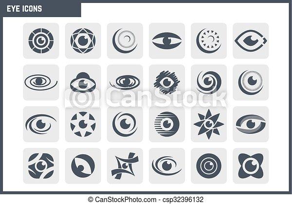 vetorial, jogo, olho, ícone - csp32396132