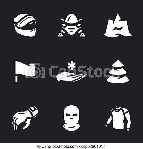 vetorial, jogo, snowmobile, icons. - csp52901017