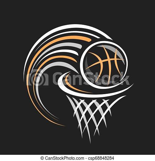 vetorial, logotipo, basquetebol - csp68848284