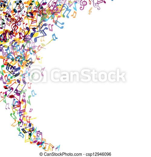 vetorial, música, fundo - csp12946096