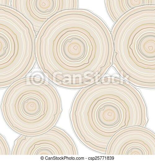 vetorial, pattern., seção, árvore, crucifixos, isolado, fundo, seamless, tronco, branca - csp25771839