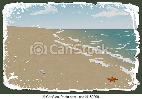 vetorial, praia - csp14180299