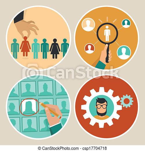 vetorial, recursos, human, ícones, conceitos - csp17704718