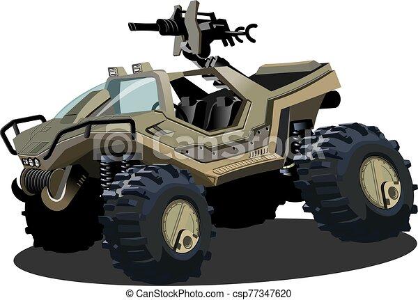 vetorial, sci-fi, caricatura, veículo - csp77347620