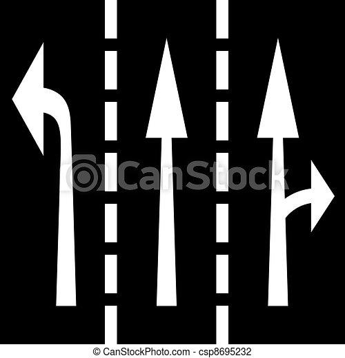 vetorial, setas, estrada - csp8695232