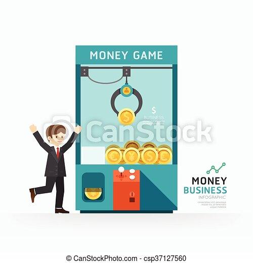 vetorial, teia, conceito, infographic, sucesso, ilustração negócio, layout., como, jogo, projeto gráfico, /, modelo, garra, ou, design. - csp37127560