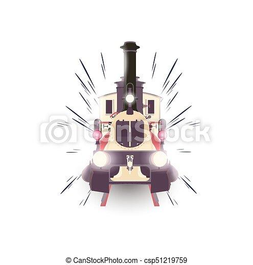 vetorial transporte vindima viagem expresso isolado ilustração