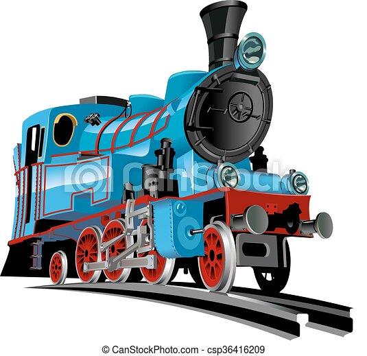 vetorial, trem, caricatura - csp36416209