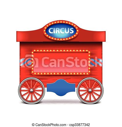 vetorial, vagão, branca, circo, isolado - csp33877342