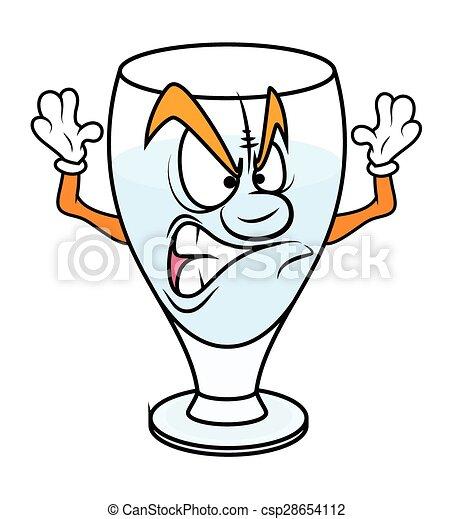 Vetro aggressivo cartone animato vino illustrazione - Cartone animato immagini immagini fantasma immagini ...