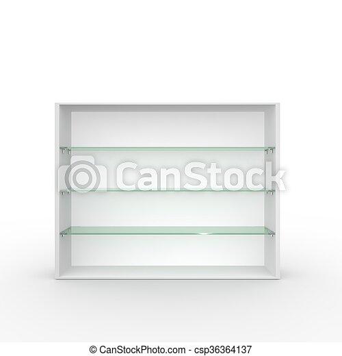 Mensole In Vetro Bianco.Vetro Bianco Bacheca Vuoto Mensole