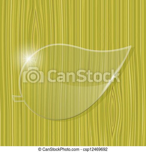 vetro, cornice, foglia - csp12469692
