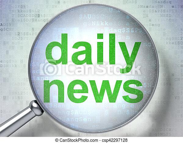 vetro, ottico, concept:, notizie quotidiane - csp42297128