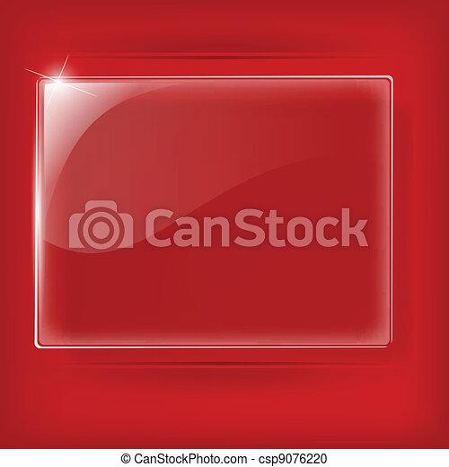 vetro, sfondo rosso, piastra - csp9076220