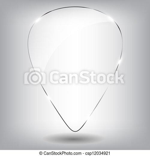 vetro, vettore, discorso, illustration., bubble. - csp12034921