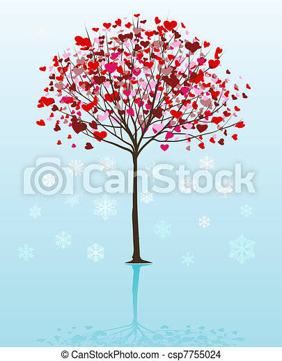 vettore, albero, natale, fondo - csp7755024