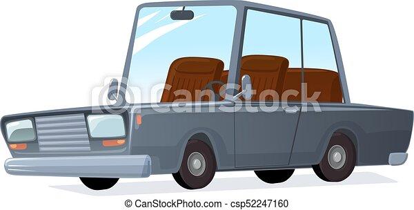 vettore, automobile., cartone animato - csp52247160