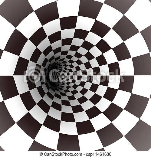 vettore, bianco, tunnel., nero, spirale - csp11461630