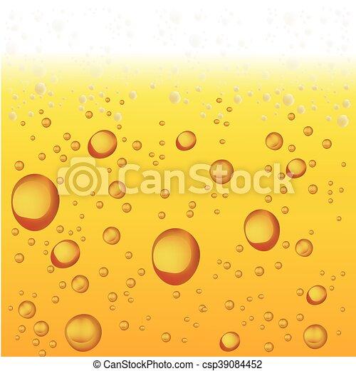 vettore, bubbles., birra, schiuma, fondo - csp39084452