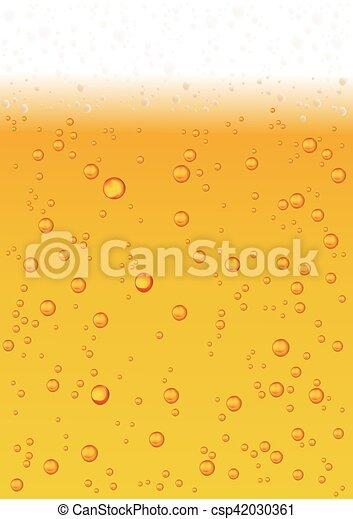 vettore, bubbles., birra, schiuma, fondo - csp42030361