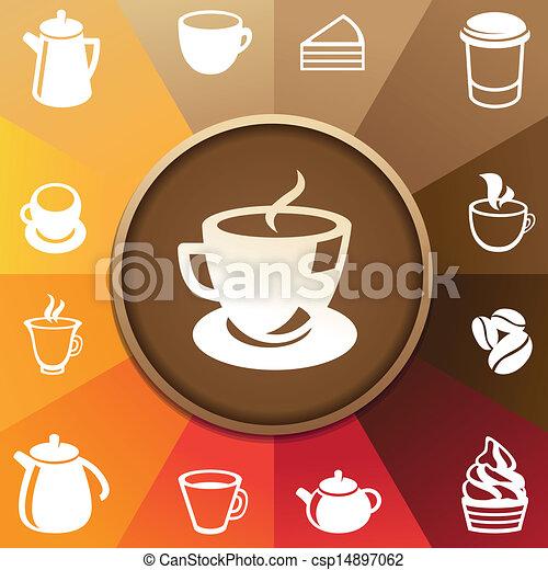 vettore, caffè tè, icone concetto - csp14897062