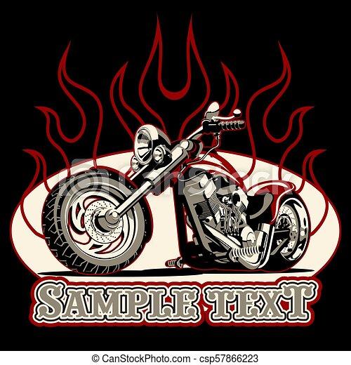 vettore, cartone animato, motocicletta - csp57866223