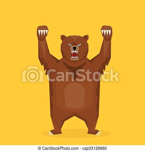 Vettore cartone animato orso muso orso vettore bear