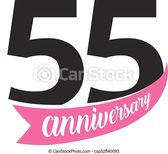 Anniversario Matrimonio 55.Vettore Certificato Manifesto Scheda Numero Illustrazione