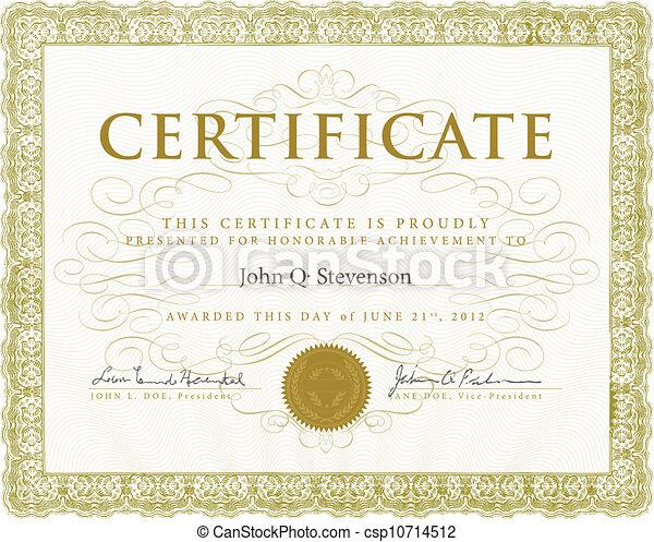 vettore, certificato, ornamenti - csp10714512