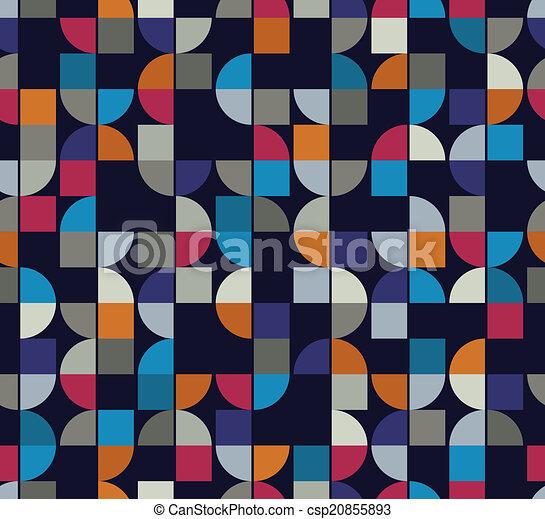 vettore, colorito, astratto, quadrato, fondo, futuristi, geometrico - csp20855893