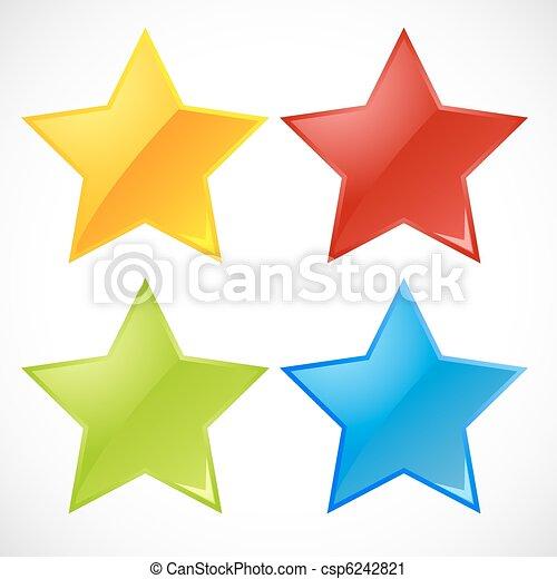 vettore, colorito, stelle - csp6242821