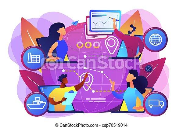 vettore, concetto, catena, fornitura, illustrazione, amministrazione - csp70519014