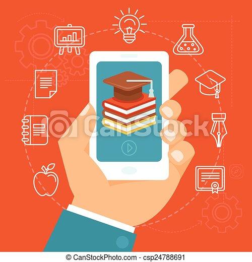 vettore, concetto, educazione, linea - csp24788691