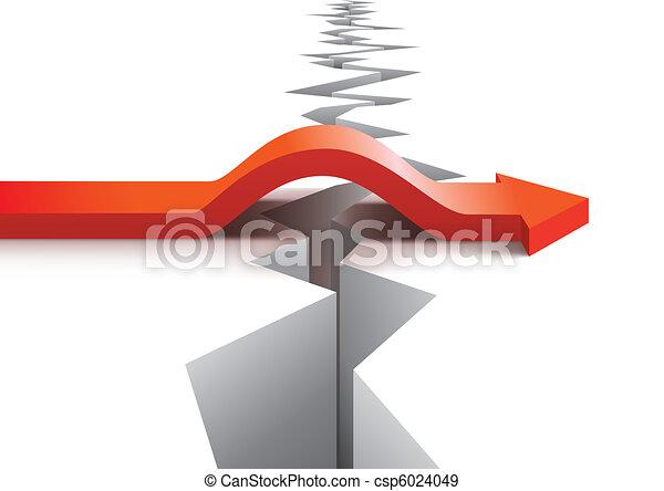vettore, concetto, rischio, successo - csp6024049