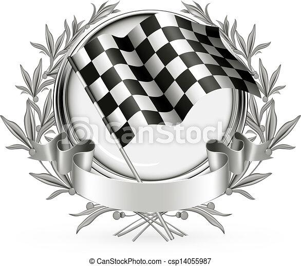 vettore, da corsa, emblema - csp14055987