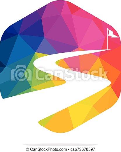 vettore, design., successo, modo, logotipo - csp73678597