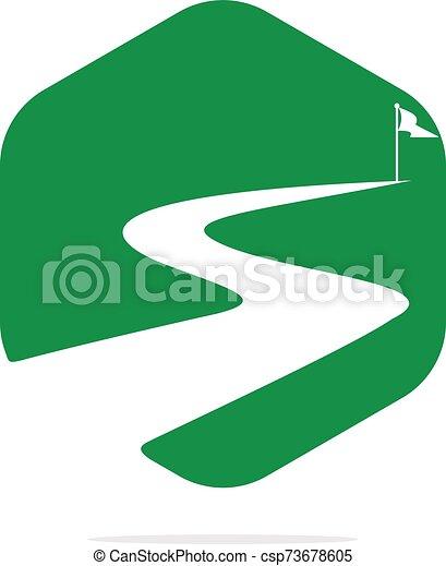 vettore, design., successo, modo, logotipo - csp73678605