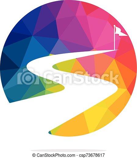 vettore, design., successo, modo, logotipo - csp73678617