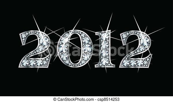vettore, diamante, bling, 2012 - csp8514253